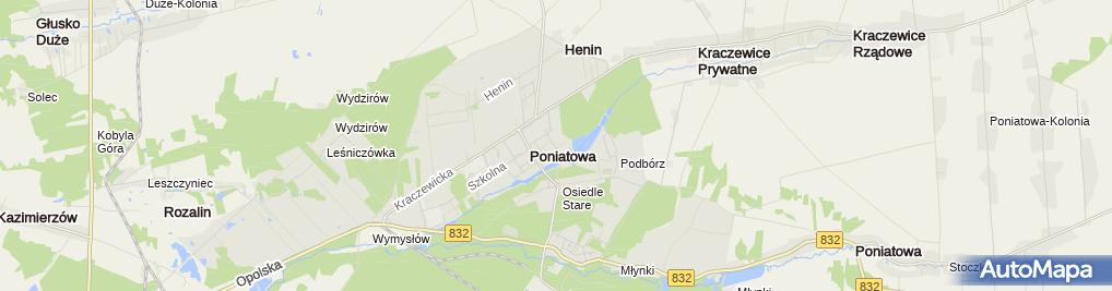 Zdjęcie satelitarne Wspólnota Mieszkaniowa ul.Żeromskiego 5 w Poniatowej