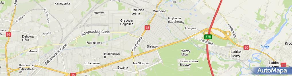 Zdjęcie satelitarne WWS Toruń