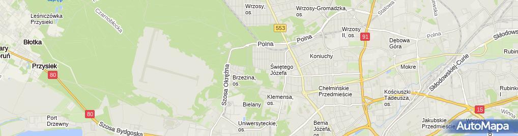 Zdjęcie satelitarne Wynajem Lokali Narloch