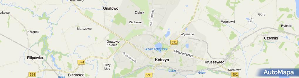 Zdjęcie satelitarne Wypożyczalnia Kaset Video Dasta Maja Gławdel Piotr Stacewicz