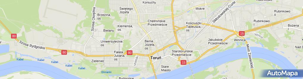 Zdjęcie satelitarne Wyrób Sprzedaż i Handel Odzieżą Eidos Grankowska Danuta Grankowska Iwona