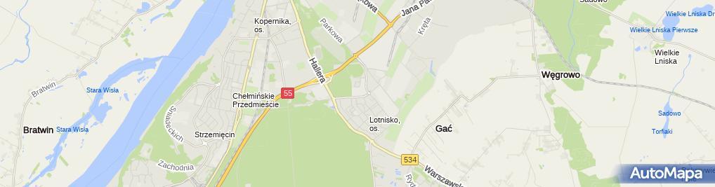 Zdjęcie satelitarne Wyższa Szkoła Demokracji z Siedzibą w Grudziądzu
