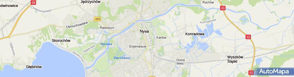 Zdjęcie satelitarne z.P.U.H.Ceramika Kamiński Marek