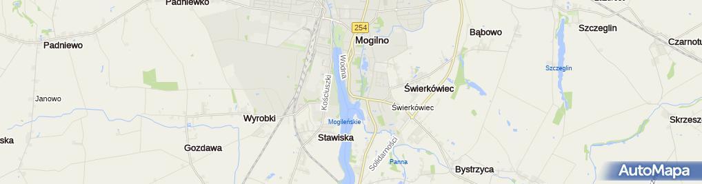 Zdjęcie satelitarne z.U.H.Mikołaj Bernaciak