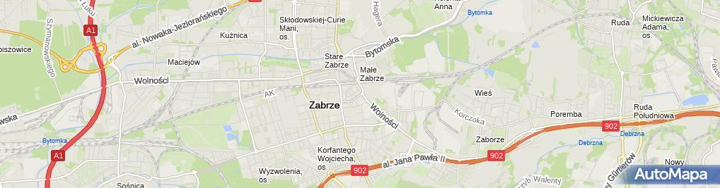 Zdjęcie satelitarne Zabrzańska Spółdzielnia Pracy Dziennikarzy Redakcja i Wydawnictw