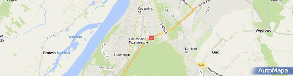 Zdjęcie satelitarne Zajkowski