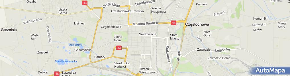 Zdjęcie satelitarne Zakład Cukierniczy Jałowiec