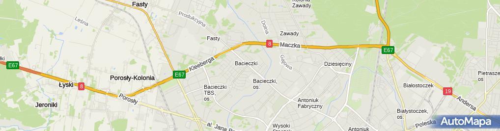 Zdjęcie satelitarne Zakład Cukierniczy