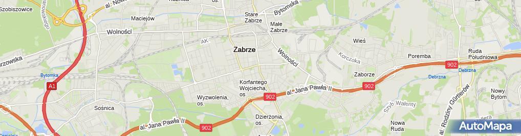 Zdjęcie satelitarne Zakład Elektroniczny Dzierko Marek