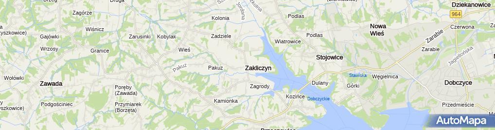 Zdjęcie satelitarne Zakład Gastronomiczny Bar Sieprawianka