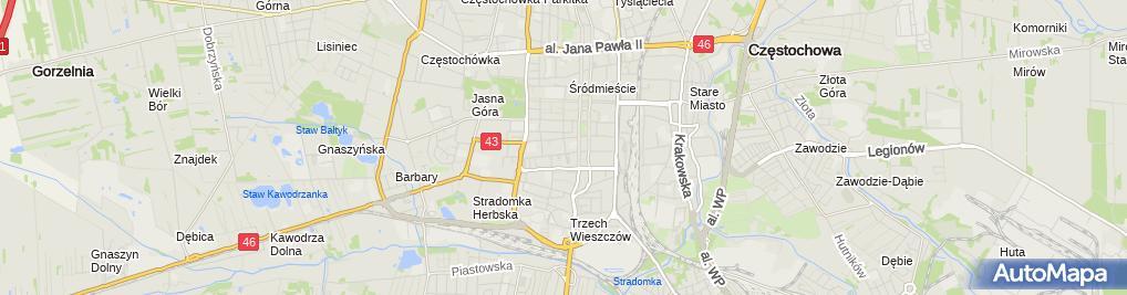 Zdjęcie satelitarne Zakład Gospodarki Mieszkaniowej Towarzystwo Budownictwa Społecznego w Częstochowie