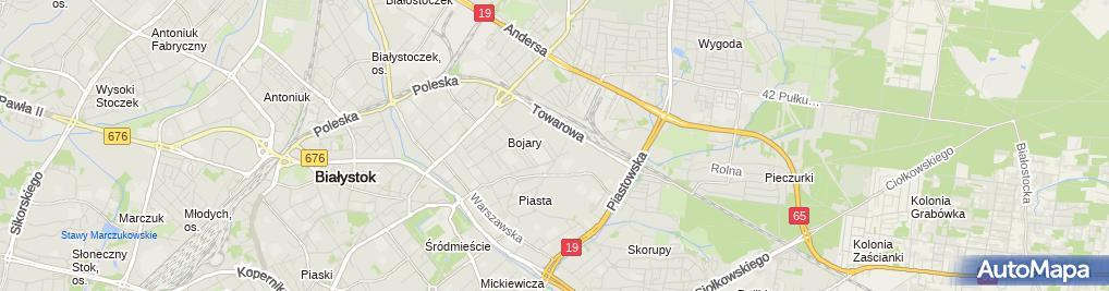 Zdjęcie satelitarne Zakład Grawerski w Białymstoku