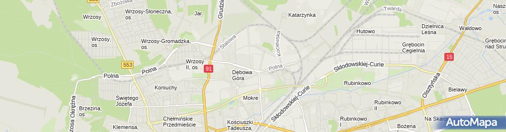 Zdjęcie satelitarne Zakład Han Usł Bimtrak Miłek Waldemar Borowski Sławomir