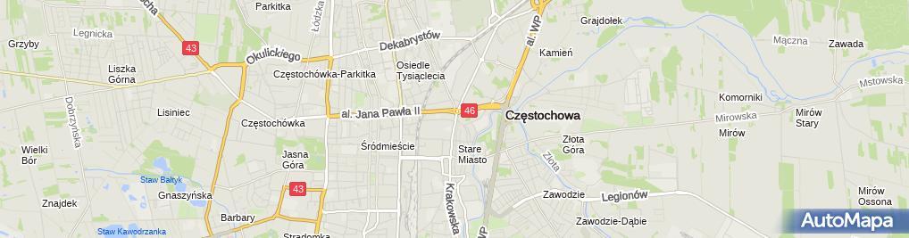 Zdjęcie satelitarne Zakład Handlowo Usługowy Videomark i Jagodzińska M Krupiński
