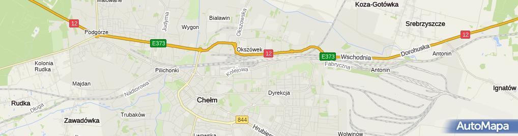 Zdjęcie satelitarne Zakład Handlowo Usługowy Weba Czujkowska Teresa