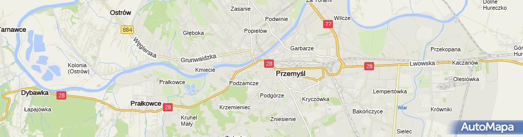 Zdjęcie satelitarne Zakład Handlowo Usługowy
