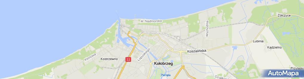 Zdjęcie satelitarne Zakład Handlowy Fokus