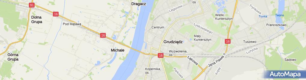 Zdjęcie satelitarne Zakład Instalacyjno Remontowo Budowlany Instal Bud Rydziński Lewandowski Rydziński Zbigniew Lewandowski Tomasz