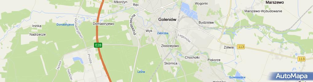 Zdjęcie satelitarne Zakład Instalatorstwa Wodno-Kanalizacyjnego Woźniak Roman