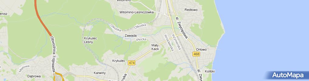 Zdjęcie satelitarne Zakład Kamieniarsko-Nagrobkowy Zofia Mroch