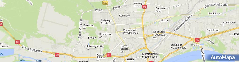 Zdjęcie satelitarne Zakład Kamieniarsko-Rzeźbiarski GW R.A.Gawryś