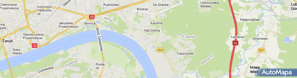 Zdjęcie satelitarne Zakład Mechaniki Blacharstwa i Lakiernictwa Wilmanowicz Mirosław