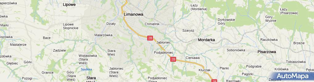Zdjęcie satelitarne Zakład Mechaniki Pojazdowej Auto Komis Młynarczyk Zdzisław Marek