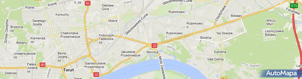 Zdjęcie satelitarne Zakład Obsługi Budownictwa Inbud