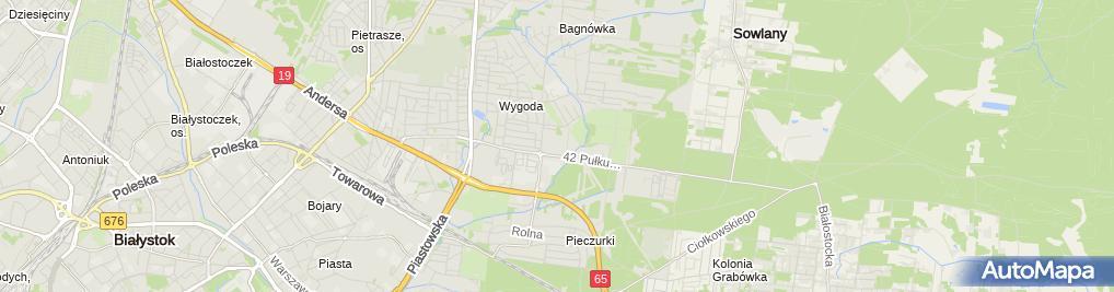 Zdjęcie satelitarne Zakład Poprawczy w Białymstoku