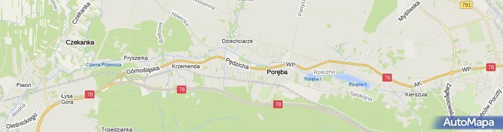 Zdjęcie satelitarne Zakład Uboju i Rozbioru Mięsa Mar Bet Marian i Beata Kubaccy