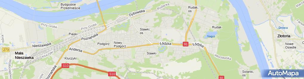 Zdjęcie satelitarne Zakład Usług Informatycznych Proxima Meller Piotr Rujner Helena