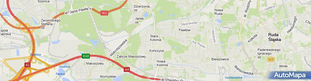 Zdjęcie satelitarne Zakład Usług Kominiarskich Bronisław Gilewski