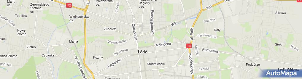 Zdjęcie satelitarne Zakład Usług Kominiarsko Budowlanych