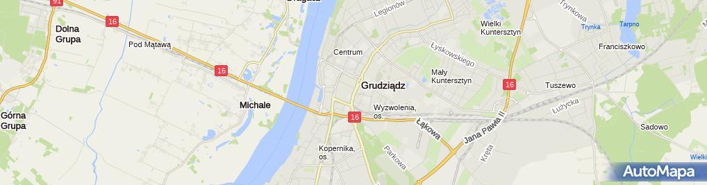 Zdjęcie satelitarne Zakład Usług Wielobranżowych Pyrzewicz Kazimierz Stępień Henryk Górny Bernard