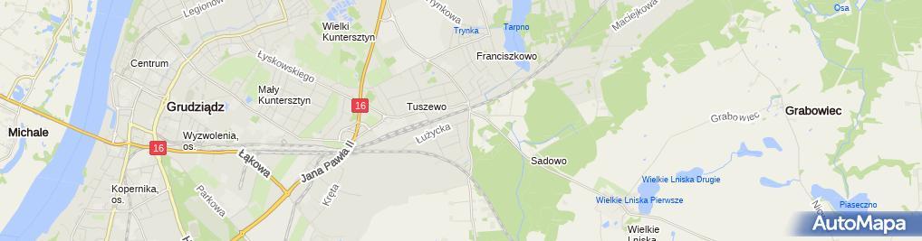 Zdjęcie satelitarne Zakład Usługowo Handlowy Remik