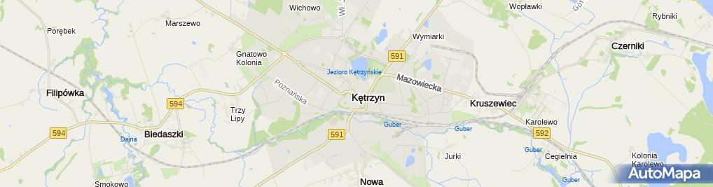 Zdjęcie satelitarne Zakład Usługowo Handlowy