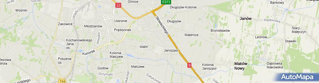 Zdjęcie satelitarne Zakład Usługowo-Produkcyjno-Handlowy Piotr Żak
