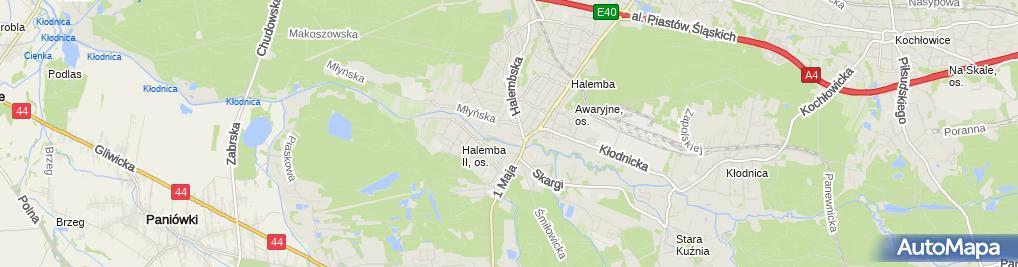 Zdjęcie satelitarne Zakład Usługowo-Produkcyjno-Handlowy Skup, Przerób Złomu Żelaznego
