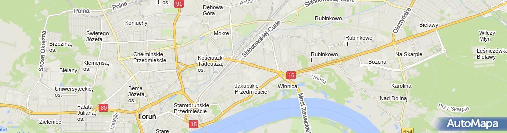 Zdjęcie satelitarne Zakładowa OSP przy Toruńskich Zakładach Materiałów Opatrunkowych i Bella