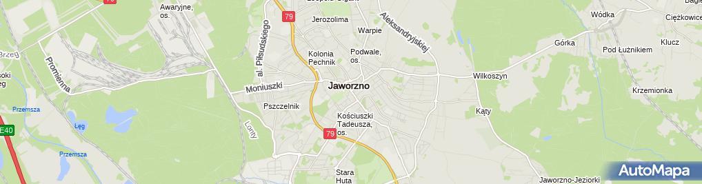 Zdjęcie satelitarne Zakładowy Związek Zawodowy Pracowników Powszechnej Kasy Oszczędności Banku Polskiego Spółki Akcyjnej Oddział w Jaworznie