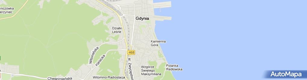 Zdjęcie satelitarne Zarząd Wspólnoty Mieszkaniowej Sienkiewicza 39 w Gdyni