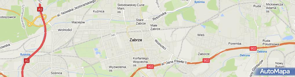 Zdjęcie satelitarne Zawiza Edward Wiciak Andrzej Zając Halina Zasuwik