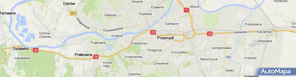 Zdjęcie satelitarne Zbigniew Kopisz Przedsiębiorstwo Handlowe Tęcza Eksport-Import
