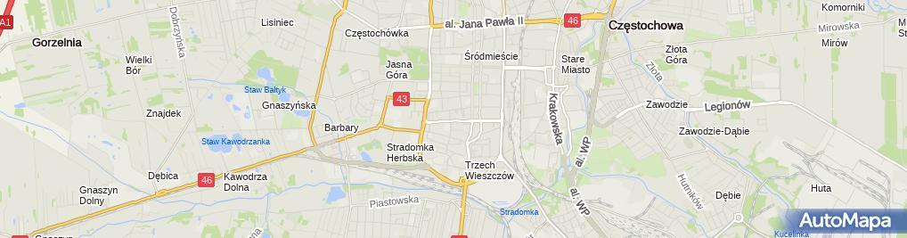 Zdjęcie satelitarne Zbigniew Wieczorek Firma Wielobranżowa An-Rafi