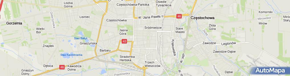Zdjęcie satelitarne Zdzisław Nartowski Przewóz Osób Taxi
