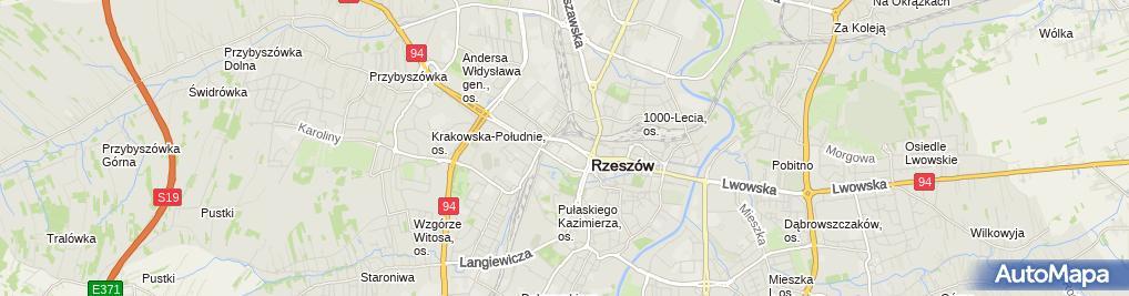 Zdjęcie satelitarne Zespół Szkół nr 1 im Ambrożego Towarnickiego w Rzeszowie