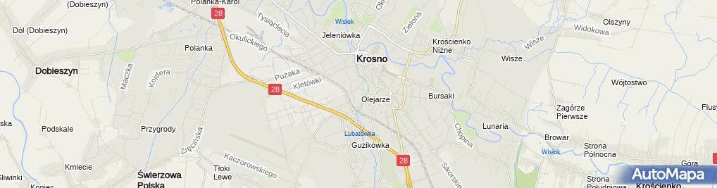 Zdjęcie satelitarne Zespół Szkół Ponadgimnazjalnych nr 2 im KS Stanisława Szpetnara