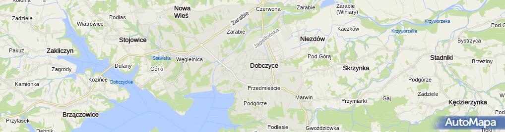 Zdjęcie satelitarne Zespół Szkół
