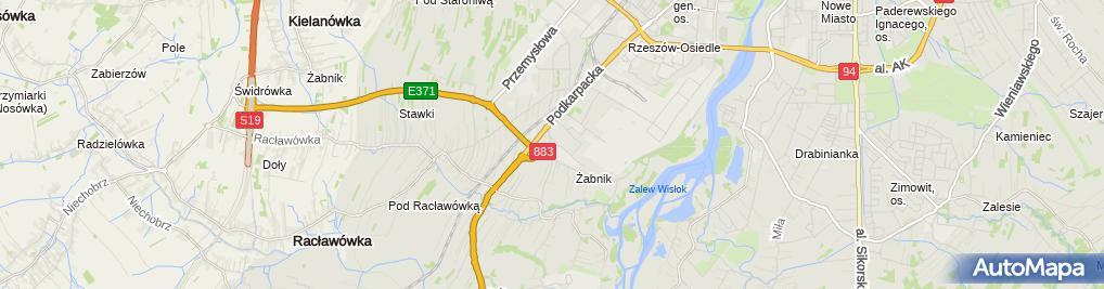 Zdjęcie satelitarne Ziaja Rzeszów