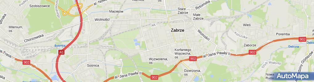 Zdjęcie satelitarne Żłobek Społeczny nr 1 Janina Sinek